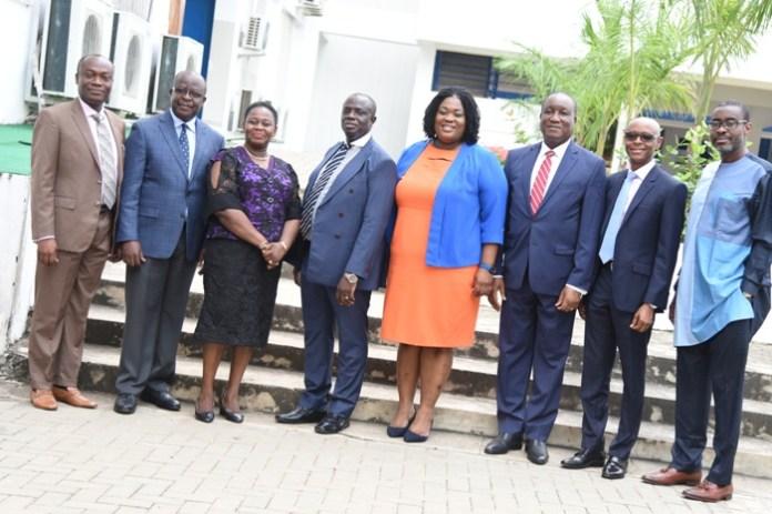 The panelists(L-R) Emmanuel Amofa, Michael G. Owusu, Justice Mrs Gertrude Torkornoo, Sir Justice Dennis Adjei, Ms Diana Dapaah, Justice Nene Amegatcher, Kizito Beyuo and Ace Ankomah