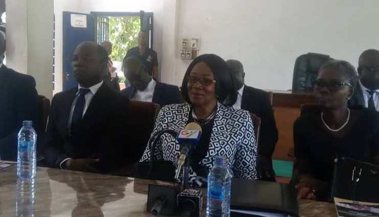 Justice Irene Larbi (second right) launching the 2019 ADR Week