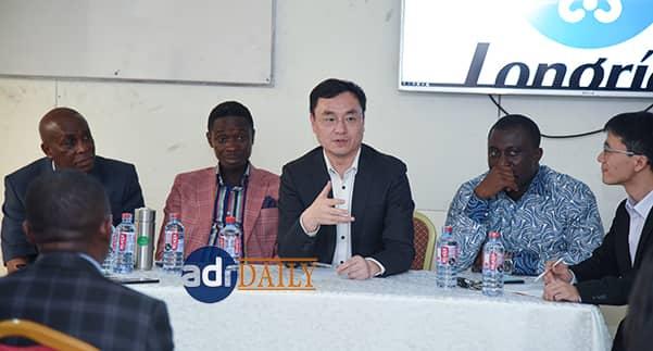 Mr Leon Li addressing the partners at the meeting