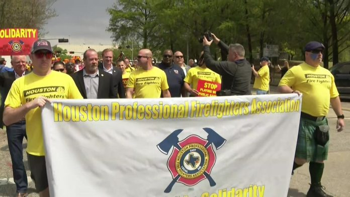 The firefighters want pay parity with other security agencies