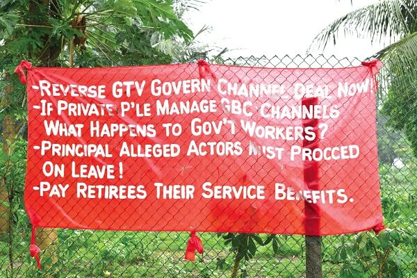 GBC unionised staff protest sale of company's channels (1)
