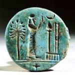 Worshipers before symbols of Marduk
