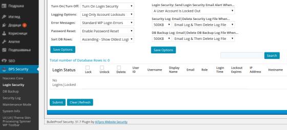 bulletproof security wordpress prikljucak