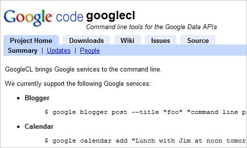 Google Command Line