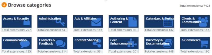 Joomla - extensions