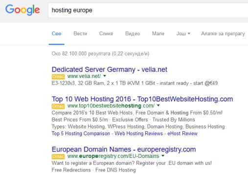 Hosting oglasi - AdWords Kako zaradjuje Google