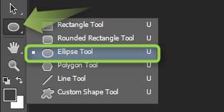 Ellipse Tool - Izrada flat ikonica u Photoshopu slika 3