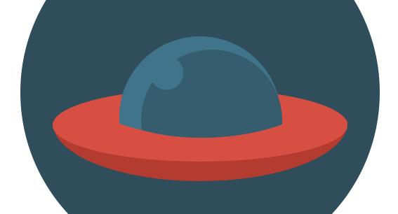 Флат иконица НЛО - Адриахост блог слика 10