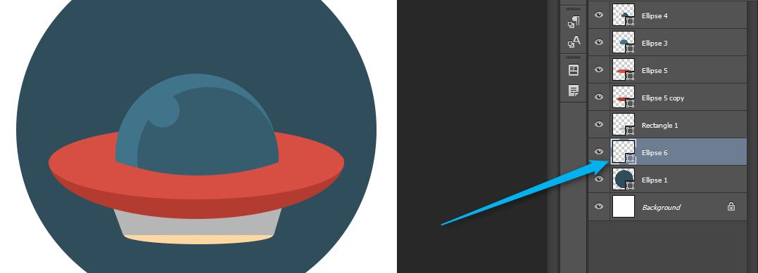 Флат иконица НЛО - Адриахост блог слика 14