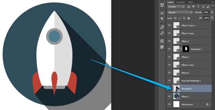 Izrada Flat ikonica u Photoshopu slika 35