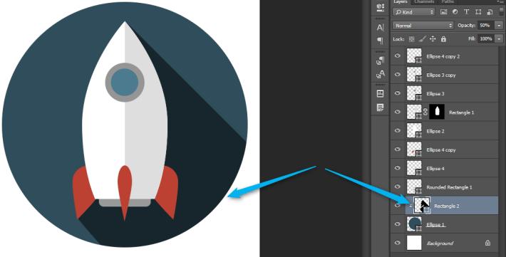 Izrada Flat ikonica u Photoshopu slika 36
