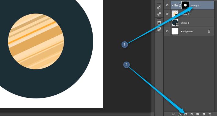Photoshop - Flat ikonica rakete slika 8