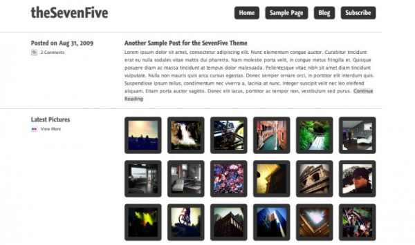TheSevenFive WordPress theme