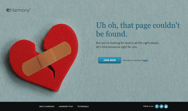 Creative and Interesting 404 Pages - e harmoy