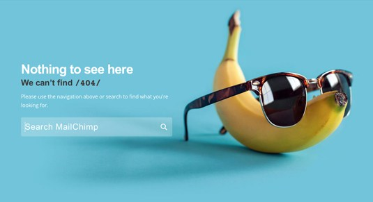 Creative and Interesting 404 Pages - mailchimp 2