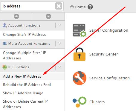 Add new IP address to server
