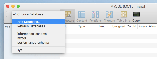 sequel pro mac