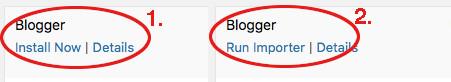 run importer blogger