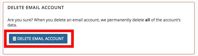 брисање мејл налога