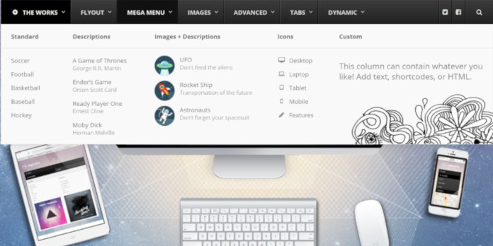 wordpress menu theme