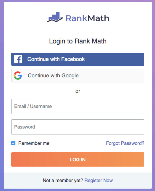 rank math registracija