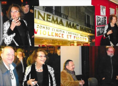 Claudia... cu un admirator;Henry-Jean Servat, critic de cinema, si Didier Haudepin