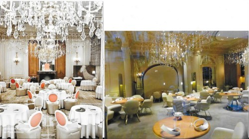 Restaurantul de la Plaza, înainte si dupà ultimile schimbàri de decor