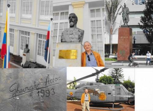 """Cuza, în Muzeul militar; Santander, pe """"Septima"""", în centrul orașului.  Oare e adevărat că erau înrudiți?"""