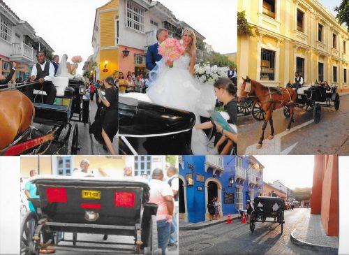 In Cartagena, trăsurile sunt invitate la nunți...