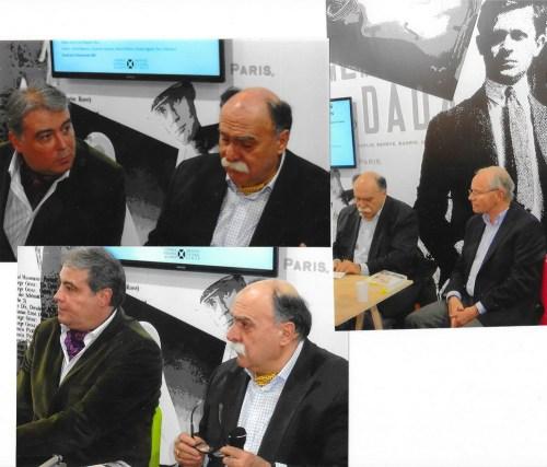 Instantanee de la prezentare: Adrian Cioroianu, Matei Cazacu și Eric Pion-Noirie