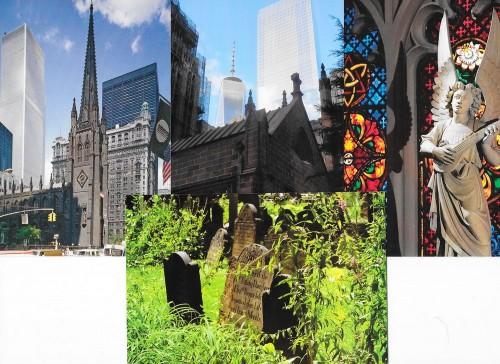 Biserica Trinity Church văzută înainte și după 11/9/2001