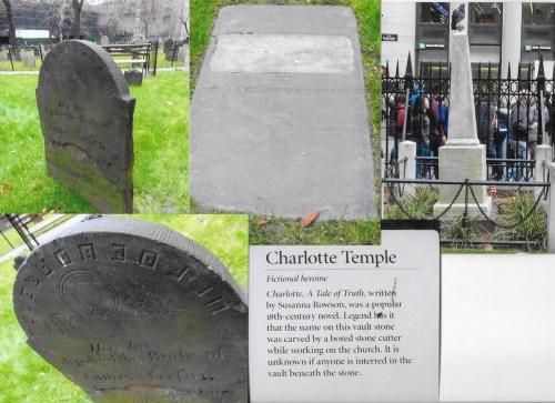 Mormintele James Leeson și Charlotte Temple în cimitirul de la Trinity Church