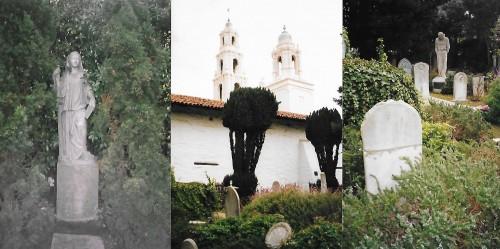 """In grădina mânăstirii """"Mission Dolores"""" se afla falsul mormânt construit pentru necesitățile filmului lui Hitchkok"""