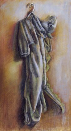 """""""Limp"""", Adriana Burgos 2009, Charcoal and pastel on paper 29"""" x 38.5"""""""
