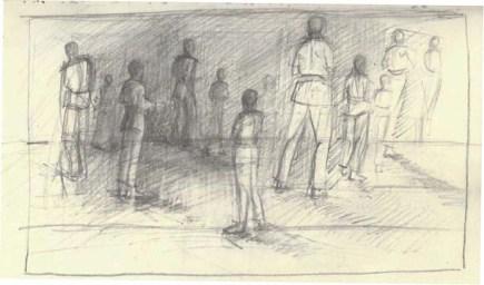 Adriana Burgos, gesture drawings from the karate journals.