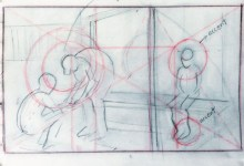 """Adriana Burgos, thumbnail for """"Physiotherapy # 2"""" with a harmonious division and of the golden rectangle along with focal point accents"""