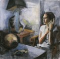 """""""On Divination"""", Adriana Burgos, Charcoal and pastel on paper, 2000"""