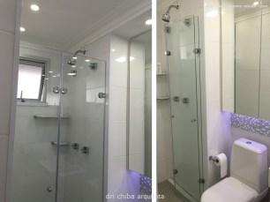 Vista do Banheiro com box articulado flex