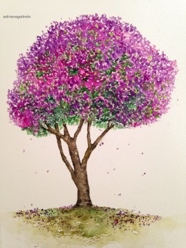 Quaresmeira, tree 17, 21 x 15cm. Sold