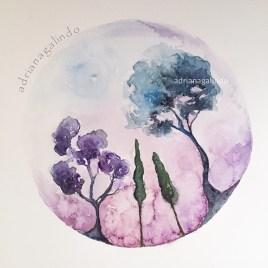 Árvore 30, Tree 30, aquarela , watercolor, Available