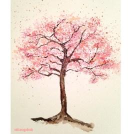 Cerejeira, árvore 20, aquarela / Cherry tree, watercolor , Sold