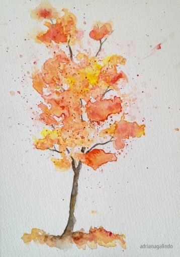 Tree 4, 21 x 15 cm. Sold