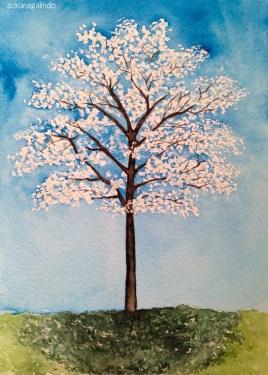 Ipê-branco, tree 9, 21x15 cm. Sold