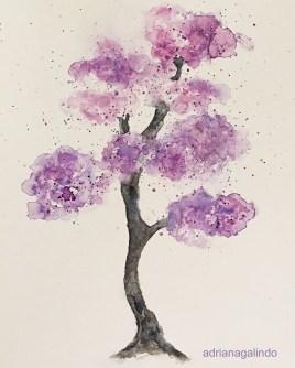 Árvore 22, tree 22, aquarela / watercolor , 43 x 30,50 cm. Sold
