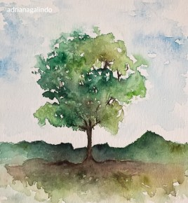 Árvore 31, Tree 31, watercolor, aquarela. SOLD