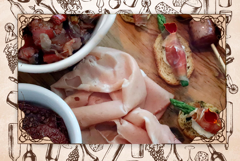 """Dato:  """"En la tabla de antipasti ofrecen mortadella italiana. A mí me encanta; al olerla y probarla uno dice: así sabe Italia"""". (FOTO: @gastrobrand)"""