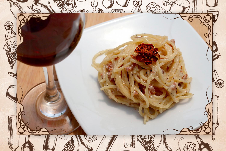 """Me gustó especialmente: """"La carbonara con salchicha sicialiana. La disfruté con el Single Estate Casas Del Toqui Cabernet Sauvignon"""".(FOTO: @gastrobrand)"""