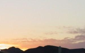 pahrump mountain sunrise