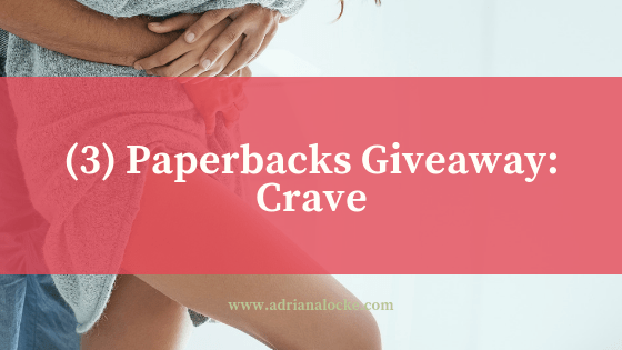 3 Signed Paperbacks Giveaway: Crave