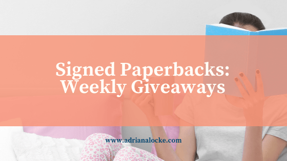 Signed Paperbacks: Weekly Giveaways!